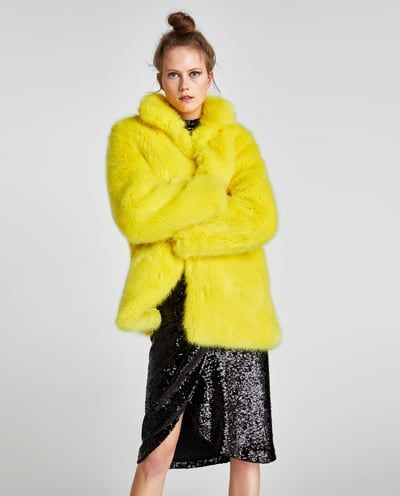 6947f211 Image 2 of COLORED FAUX FUR COAT from Zara | THINGS TO WEAR | Fur ...