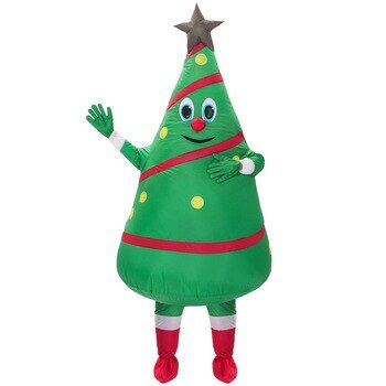 Hot Sale Adult Inflatable Costume New Design Green Christmas Tree Mascot Costume Free Shipping Green Christmas Tree Green Christmas Inflatable Costumes