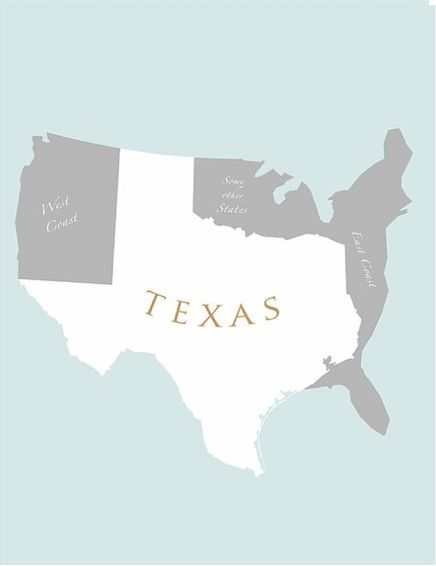 Texas Map Not All Of Us Are Gay Cowboys Well Most Of Us - Accrate map of us