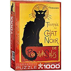 Cat Jigsaw Puzzles Great Gifts For Cat Lovers Chat Noir Cat Jigsaw Puzzle Tournee Du Chat Noir