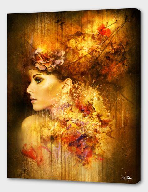 «Poésie» Canvas Print by Chomienne Estelle aka Stellart | Curioos