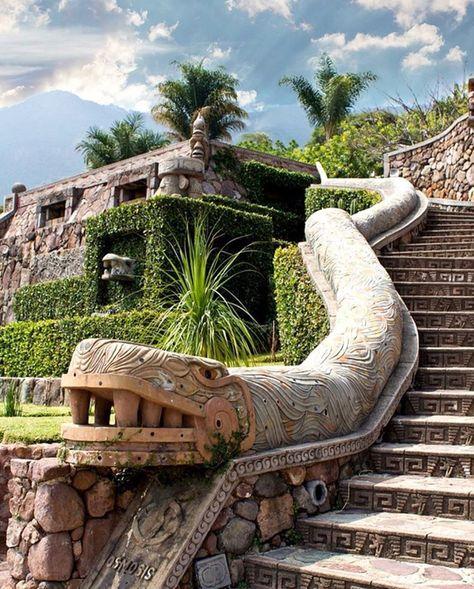 Image may contain: cloud, sky and outdoor Temple Maya, Aztec Temple, Mayan Ruins, Ancient Ruins, Cultures Du Monde, Mayan Cities, Aztec Culture, Aztec Art, Mesoamerican