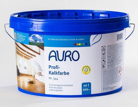 Auro Profi Kalkfarbe Okologische Wandfarbe Naturfarben Kalkfarbe