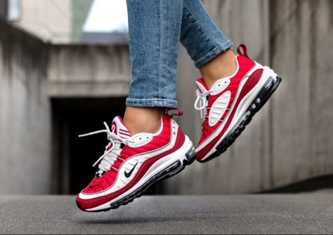 cheap for discount cee52 13c9b Fancy  Nike air max 98 white gym red womens