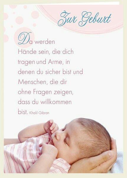 Zu Geburt Spruch Geburt Baby Sprüche Zur Geburt Und