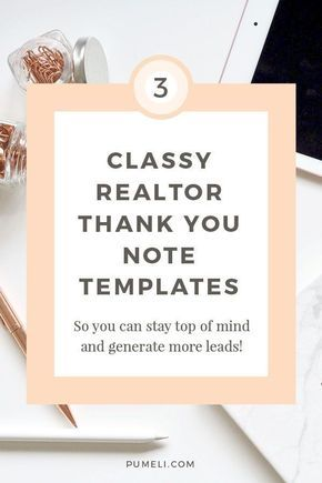 Thank You Letter Examples For Real Estate Marketing Real Estate