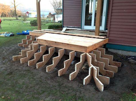 Structure de marches en bois pour terrasse en Cumaru Idées