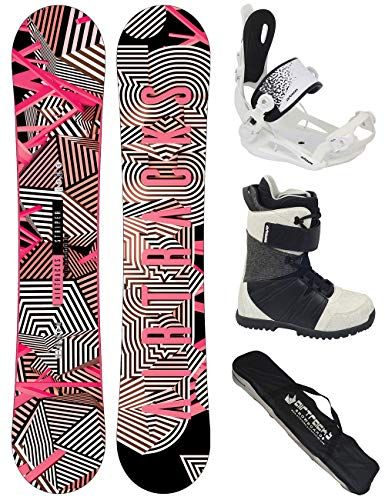 Airtracks Damen Snowboard Set: Stripes Lady Rocker +