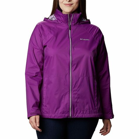 Plus Size Columbia Switchback III Hooded Packable Jacket, Women's, Size: 3XL, Purple