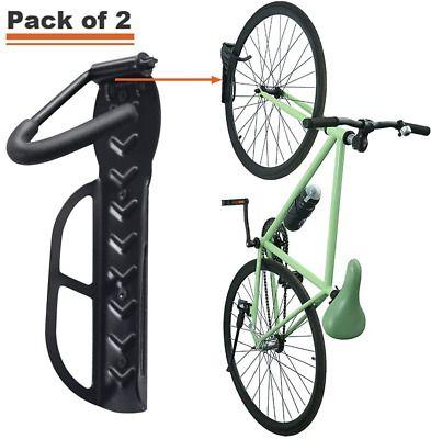 Wallmaster Bike Rack Garage Wall Mount Bicycles Hanger 2 Pack Storage System Ver In 2020 Bike Rack Bike Rack Garage Bicycle Hanger