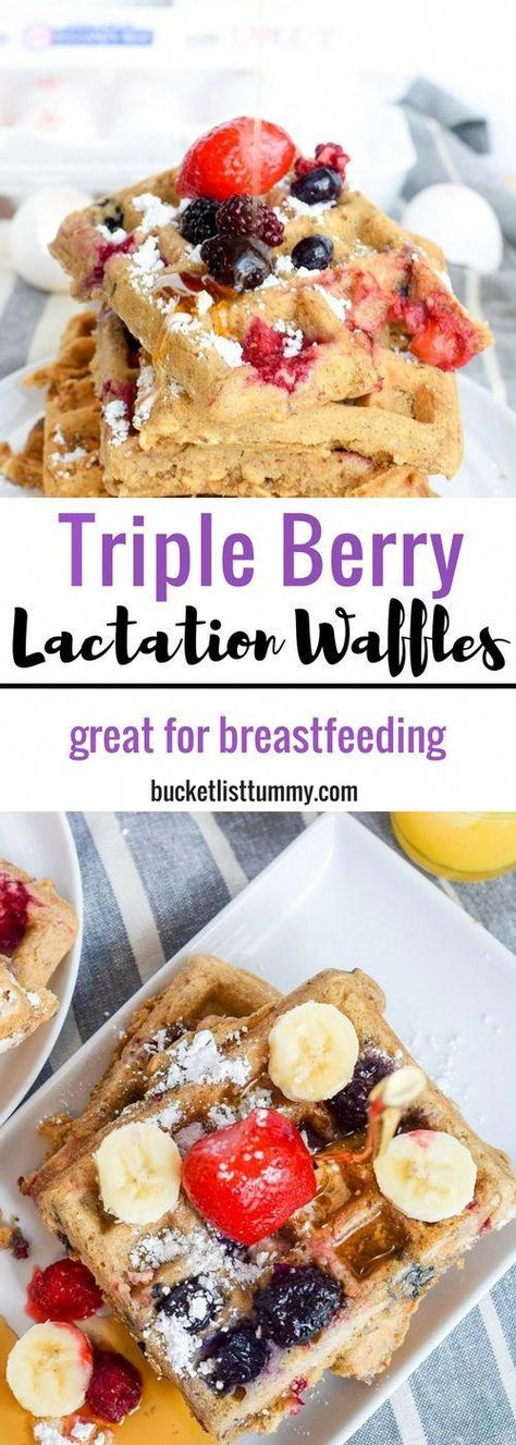 SAVE THESE WAFFLES! You are going to want to make these lactation waffles everyday after the baby comes. They are so good and really do help with milk supply! #breakfast #waffles #wafflerecipes #breastfeeding #breasffeedingrecipes #recipesforbreastfeeding #milksupply #brunchrecipes #breastmilkcookies