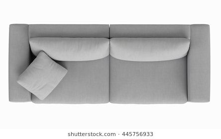 Modern Fabric Sofa 2 Seat Top View Isolated On White Background Modern Fabric Sofa Modern Furniture Sets Furniture Layout