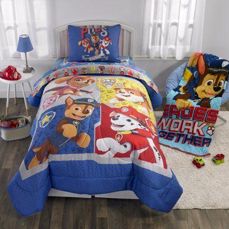 Paw Patrol Sheet Set Kids Bedding 4 Piece Full Size Walmart Com Kids Bedding Kids Bed Sheets Paw Patrol