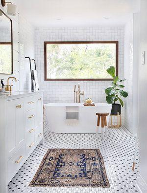 5 Ways To Add Style Charm To A 90 S Home Sunny Circle Studio Mosaic Bathroom Bathrooms Remodel Modern Boho Bathroom