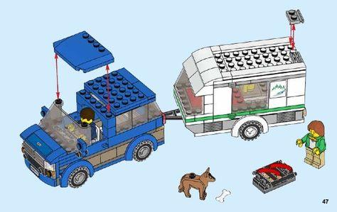Lego Van Caravan Set 60117 Instructions Pictures Lego Van Caravan