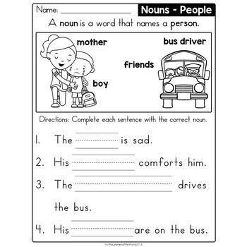 Nouns Reading Comprehension Fill In The Blanks Sentences Grammar Worksheets Reading Comprehension Nouns Fill In The Blanks Worksheets Nouns worksheet for grade 4