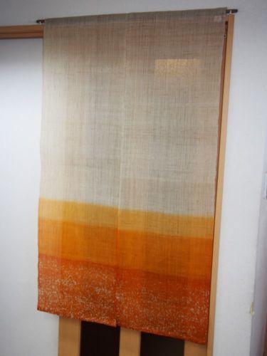 Noren Kyoto Japanese Hanging Curtain Roketsu Dyeing Batik Bokashi