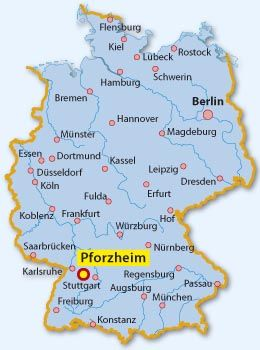 Pforzheim Karte Deutschland Deutschland Karte Pforzheim