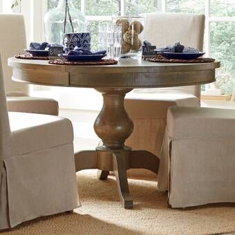 Magaw Solid Wood Dining Table Extendable Dining Table Dining
