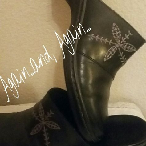 Clark shoes Black leather with a flowers embroidery across the top.  absolutely like new. Clarks Shoes Wedges a6152ade7e314