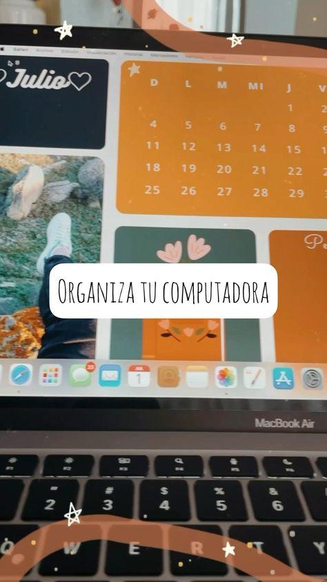 Organiza tu computadora y agrega notitas en tu pantalla 🤩♥️