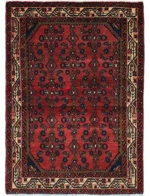 Ecarpetgallery One Of A Kind Hamadan Hand Knotted 3 5 X 4 9 Wool