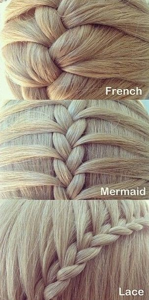 Six Different Types Of Three Strand Braids So Cute And Proud That I Can Do All Of Them Braids Tutoria Types Of Hair Braids Strand Braid Different Braids