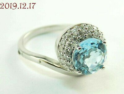 Ebay Advertisement New Blue Topaz Cubic Zirconia Sterling Silver 925 Off Set Ring Size 10 In 2020 Size 10 Rings Cleaning Silver Jewelry Ring Size