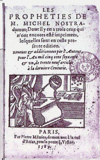 The Famous Prophecies Of Nostradamus Scihi Blogscihi Blog Prophecy Christian Names Servant Of Evil