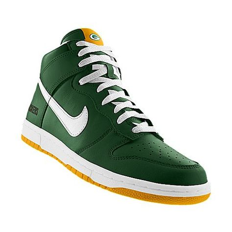 Nike Dunk High Green Bay Packers Shoes | Green bay packers