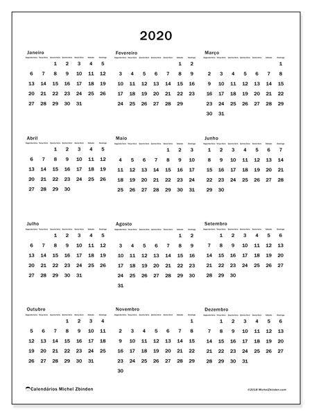 Calendario 2020 Pdf Brasil.Calendario 2020 33sd Ficar Organizado Calendario Anual
