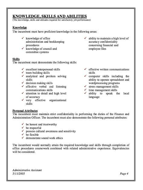 Pin By Gail Fonseca On Resume In 2019 Administrative Assistant Job