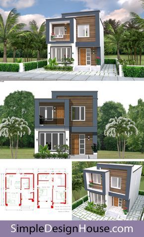 Buy This House Plan House Designs Plans 6 5x7 5m 22x25f 2 Beds Layout Detailing Floor P Modern House Plans Modern House Floor Plans Modern Small House Design Small house plan and elevation