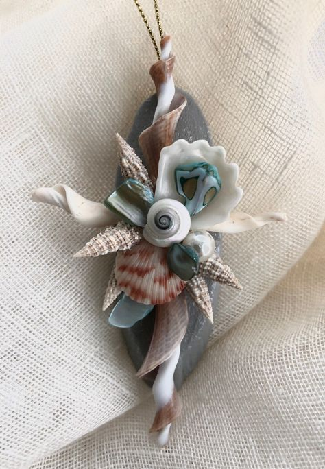 Excited to share this item from my #etsy shop: Shell cross/Mothers daycross/Shell ornament/Mother's day cross/beach Mother's Day #shellcross #weddingfavors #weddinggift #coastalwedding #shellcraft