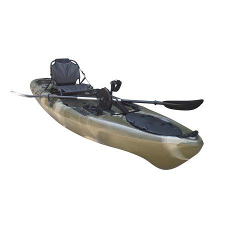 Bkc Uh Pk11 Pedal Drive Solo Rover 10 Foot 6 Inch Solo Kayak Propeller Driven Sit On Top Single Fishing Kayak With Pedal Drive Rudder System Paddle And Seat Kayaking Pedal Kayak Kayak Fishing