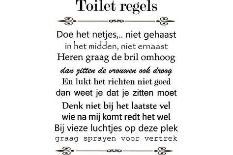 Toilet regels