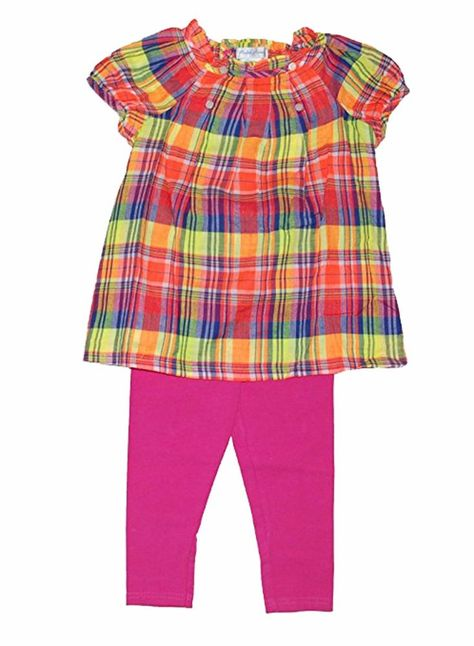 NWT Ralph Lauren Girls Plaid Madras Top /& Leggings Set