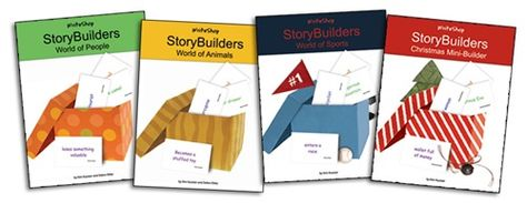 """Erica @ Confessions of a Homeschooler reviews WriteShop StoryBuilders writing prompt card decks: """"They've been a HUGE help on days when they kids just can't come up with an idea to write about."""""""