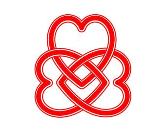 Infinity Heart Vinyl Decal TWO Sticker 2 Pack
