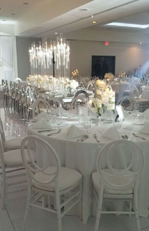 """Statuesque Events on Instagram: """"Their vision was to have a clean, pure white reception. Thanks to all of the vendors who worked to pull it off! Floral & Rentals…"""""""