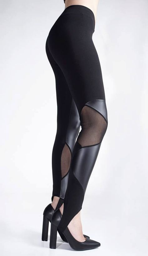 41cc9317 Black Leggings ☆This is a made-to-order piece, sewn especially for you from  high-quality fabrics with the exceptional workmanship of Ralele.