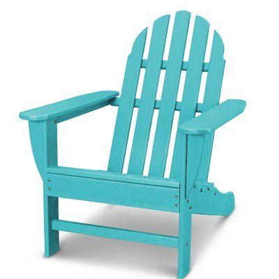 Polywood Classic Adirondack Chair Color Aruba Wood Adirondack
