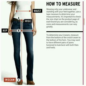 Guide To Measuring The Rise Inseam Waist Hip Inseam Hips Waist
