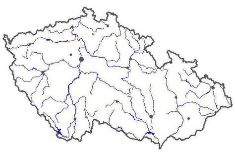 Vysledek Obrazku Pro Slepa Mapa Reky Cr Zemepis Domaci Uceni Mapa