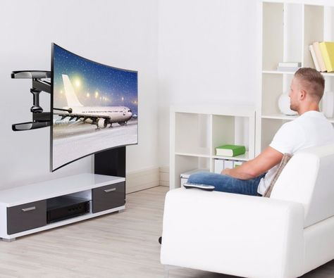 How To Wall Mount A Curved Tv Wall Mounted Tv Sit Stand Desktop Curved Tvs