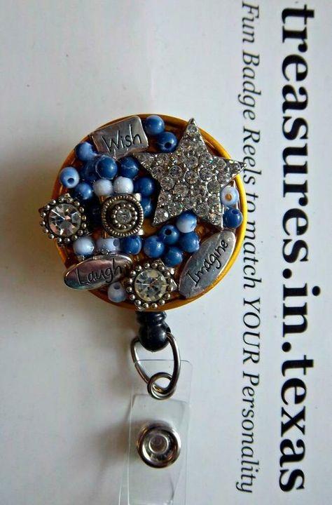Multi color beaded  Owl Badge Reel retractable ID Card Glasses Holder Teacher Nurse