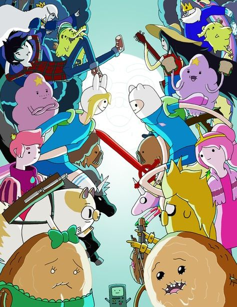 Amazing comparison of Finn and Jake/Fiona and Cake