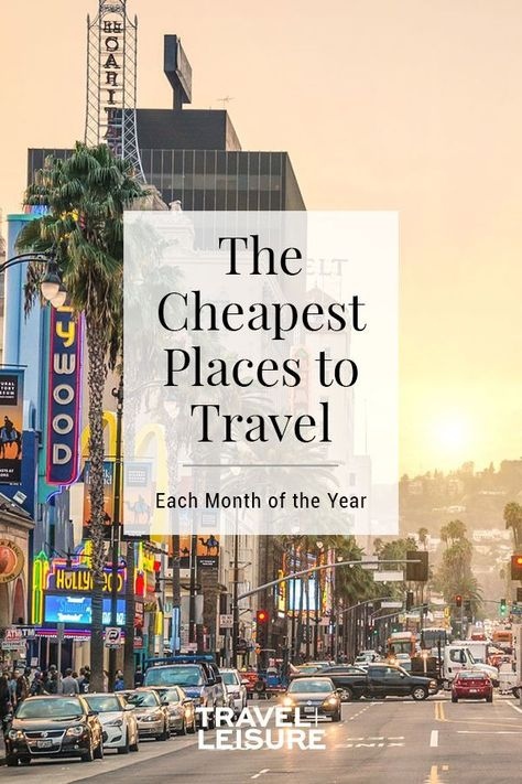 If a cheap vacation is what you're after, plan your trips based on when hotel rates are proven to be low; then use a service like Hopper or Kayak to find the best-priced plane tickets to round out your plans. #budgettravel #bestplacestotravel #traveldestinations #traveltips | Travel + Leisure - The Cheapest Places to Travel for Each Month of the Year