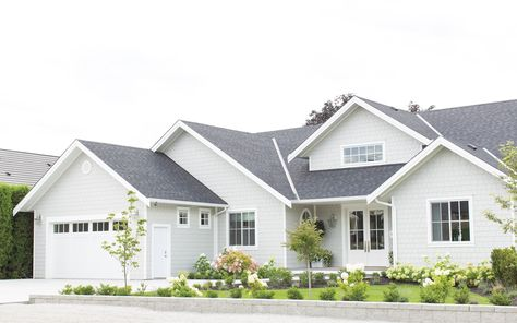 Our Exterior Home Reveal Fraiche Living In 2020 Gray House Exterior White Exterior Houses House Exterior