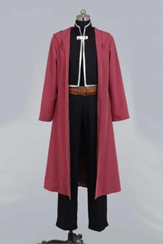 Halloween Anime FullMetal Alchemist Edward Elric Cosplay Costume SIZE XL